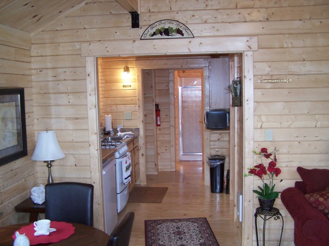 Interior of Wind Dancer Cabin
